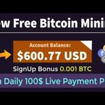 New 2021 Free Bitcoin Mining Site, Earn 35$ Free   Bitcoin BTC Earning Site
