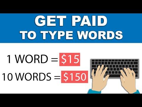 Make $15+ Per Word You Type - Make Money Online 2021