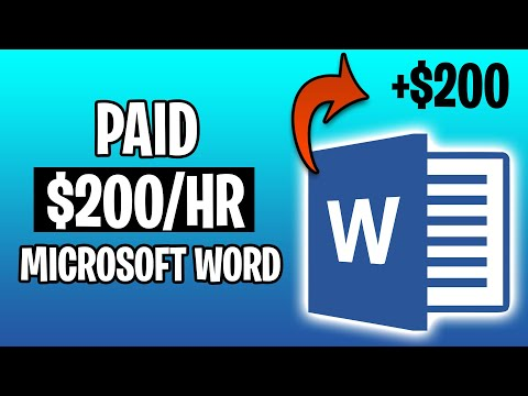 Earn $200 Per Hour From Microsoft Word (Make Money Online 2021)
