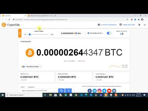 Free Bitcoin Mining with Payment Proof / CryptoTabBrowser / Download link in Description