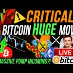 CRITICAL!!🚨HUGE BITCOIN & XRP MOVE!! THESE ALTCOINS ARE PUMPING! MY NEXT TRADE! BTC & ETHEREUM NEWS!