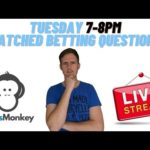 Tuesday 2/2/21 Matched Betting Questions Stream OddsMonkey Make money online uk