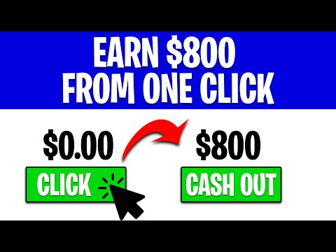 Earn $800 Fast For One Click FOR FREE (Make Money Online Today)