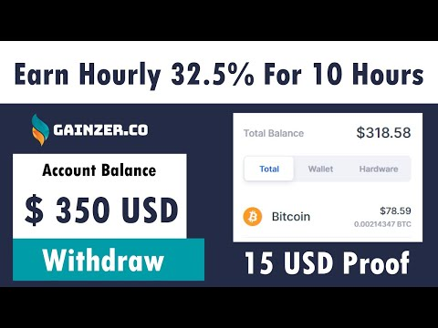 GainZer - New Free Bitcoin Mining Site 2021 | Earn 32.5% Hourly For 10 Hours Live $15 USD Proof