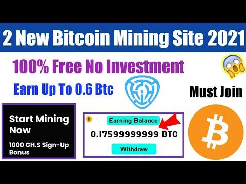 New Bitcoin Mining Site 2021 - Cloud Mining Website -  New Btc Earning Site -  Bitcoin Mining 2021