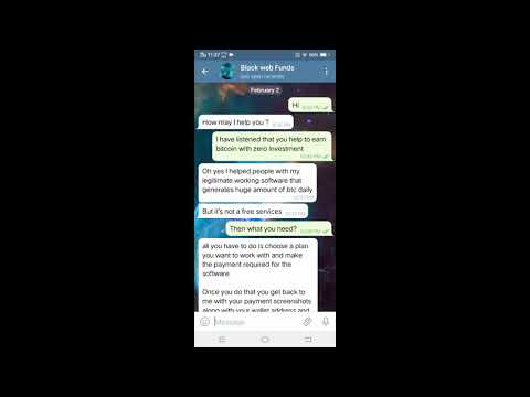 Telegram Bitcoin scam | @Blackwebfunds