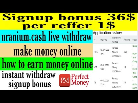 uranium.cash live withdraw/instant withdraw signup bonus/make money online/how to earn money online