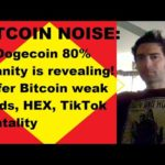 Dogecoin 80% insanity is revealing! Ruffer Bitcoin weak hands, Ethereum, HEX, Jobs, TikTok noise!