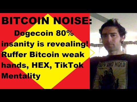 Dogecoin 80% insanity is revealing! Ruffer Bitcoin weak hands, Ethereum, HEX, Jobs, TikTok noise!