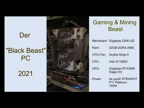 The Black Beast 2021 - Gaming & Bitcoin Mining PC -