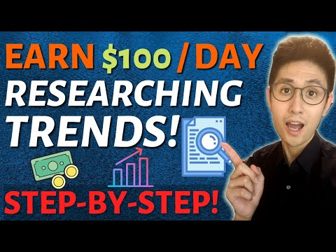 How to Make Money Online Passively for Free By Researching Trends (Redbubble & Teespring Strategy)