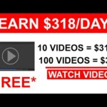 Earn $318 PER DAY Watching Videos! (Make Money Online)