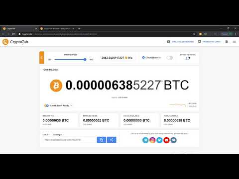 ₿ Cryptotab: Boost Bitcoin Mining Speed with Proof ₿