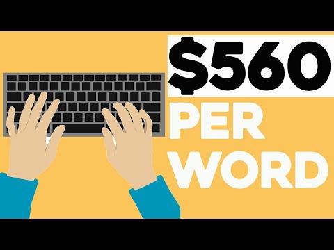 Make $560+ Per WORD! (NO TRANSCRIPTION) | Make Money Online