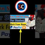 Work From Home Jobs  | make money online | edle Empire | withdrawa money bitcoin, PayPal#shorts