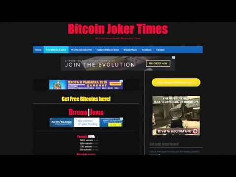 Заработок в интернете!  Bitcoin Joker Times   от 350 до 5000 сатоши каждый час!