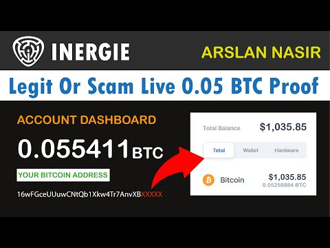 Inergie.io - Free Bitcoin Miner Legit or Scam 0.05 Bitcoin Live Payment Proof + Zero Invest