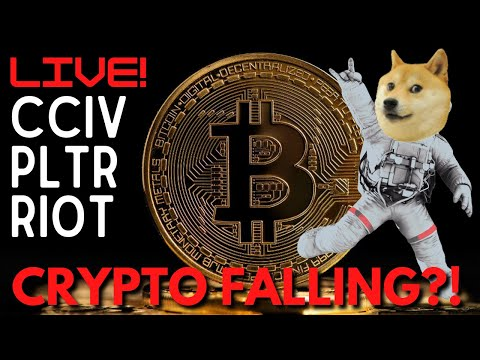 MARKET OPEN: CRYPTO FALLING?! (Bitcoin & Doge) || STOCK ANALYSIS: CCIV, PLTR, RIOT  & More