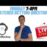 Monday 22/2/21 Matched Betting Questions Stream OddsMonkey Make money online UK