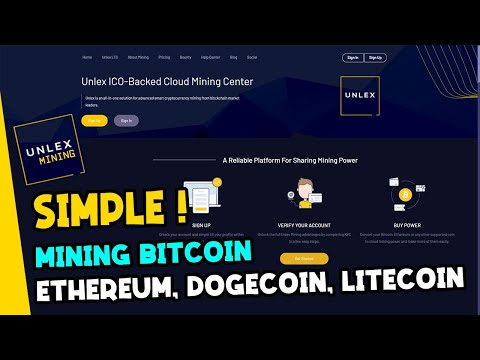 UNLEX MINING Bitcoin Mining BITCOIN Proff Paling Simple dan Praktis 2021