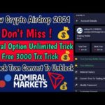 Admiral Option App Unlimited Refer Trick| Free BitcoinMining Site 2021|Free Btc Earning Site 2021