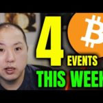 4 BULLISH EVENTS FOR BITCOIN THIS WEEK!!!