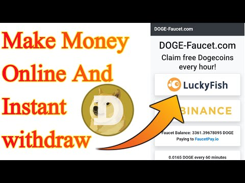 Make Money Online and instant withdraw || How to earn doge coin without investment || Doge faucet