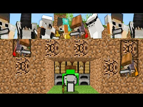 Minecraft Speedrunner VS 5 Hunters Dream, MrBeast, Technoblade, TommyInnit GeorgeNotFound Make money