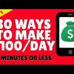 Make Money Online 2021 💰 30 Ways To Make $100 - Part 1 💰 Work From Home 2021 💰💰💰