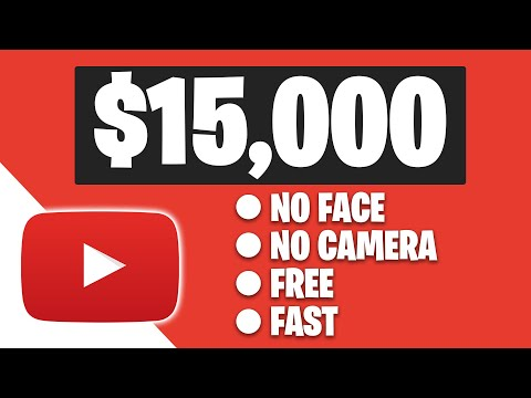 Earn $15,000+ ON YOUTUBE Without Showing Your Face (Make Money Online)