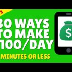 Make Money Online 2021 💰 30 Ways To Make $100 - Part 3 💰 Work From Home 2021 💰💰💰