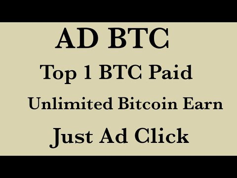 Ad btc one of the best online job/ Unlimited Bitcoin