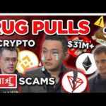 Over 31 MILLION DOLLARS in Cryptocurrency EXIT SCAMS & RUG PULLS.. today..