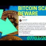 Bitcoin Scam Alert BEWARE! bitcoin news