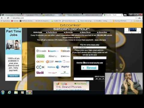 موقع Bitcoinker لربح 1000 ساطوشي في الساعة