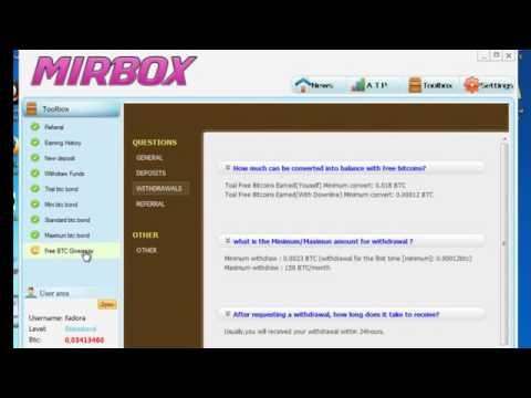 Как работать с программой MIRBOX (btc-mirbox.com)