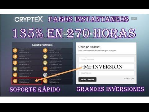 Cryptex, nueva página Bitcoin 135% ganancias (SCAM)