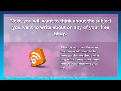 Make Money With Free Blogs - Write For Cash at Home
