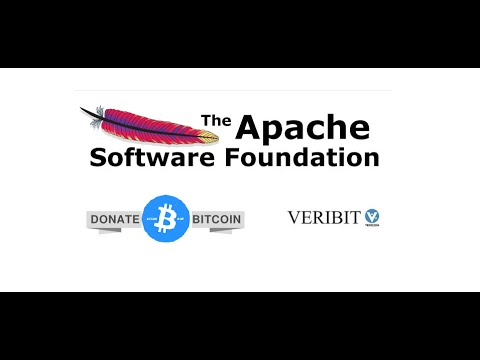Using VeriBit (VeriCoin) to Donate Bitcoin to The Apache Software Foundation.