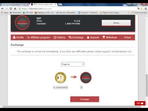 RDP mining Esta Pagando,  Minere Dólares, ou Bitcoin