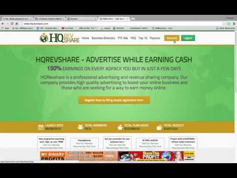 Earn 188$ per day!!!! Making Money With HQrevshare  & inviste 5$=7 5$ earn in 25 days